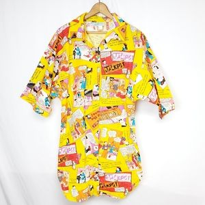 Vintage Vicky Vaughn comic button down tunic